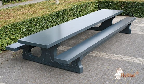 Betonnen picknicktafel antraciet XL