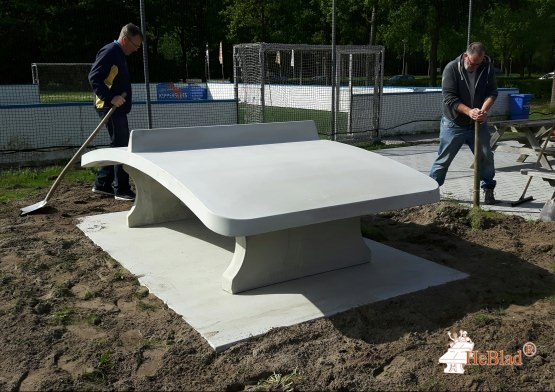 Voetvolleybaltafel Naturel Beton