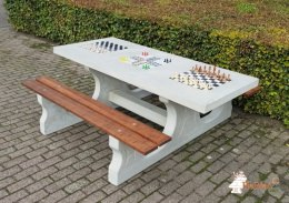 Table Multi-jeux (1-3-2) Beton Naturell