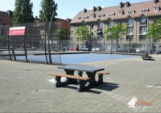 Antraciet-Betonnen Picknickset
