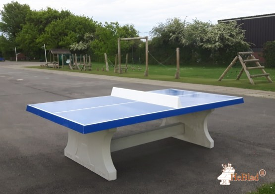 Table de ping-pong bleue